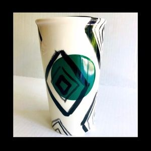 🌼Starbucks Green Dot Diamond Ceramic Tumbler